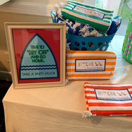 mitchell's 'poolparty' bar mitzvah signage and sticker