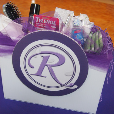 rebecca's 'lavender candy girl' bat mitzvah ladies room box