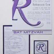 rebecca's 'lavender candy girl' bat mitzvah invitation suite
