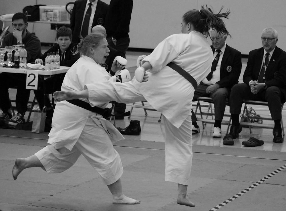 Amber Harrod Female Kumite Final