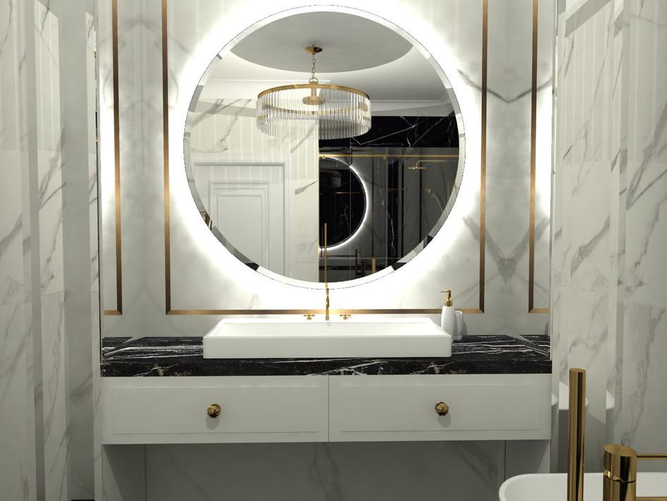 Łazienka w wariancie białym