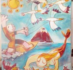 Surfer y sirena II