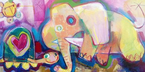 El elefante y la tortuga