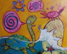 La tortuga y el cangrejo - conversaciones en espiral