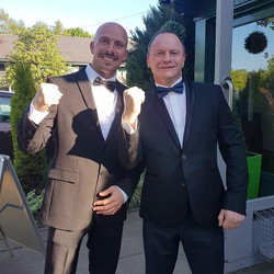 Neil & Mark suited