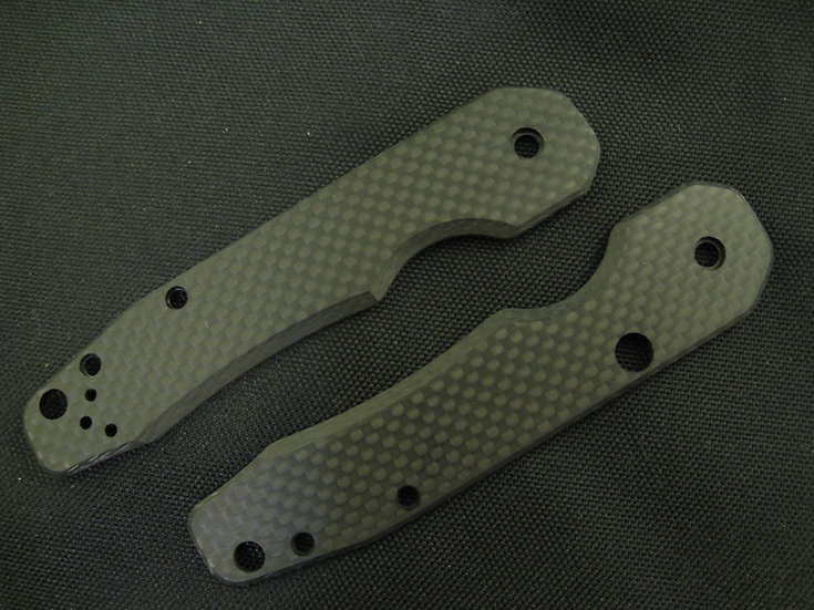 Spyderco Smock Solid Carbon Fiber Custom Scales