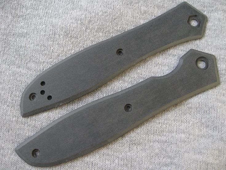 ZT 0640 Black Linen Micarta Custom Overlays