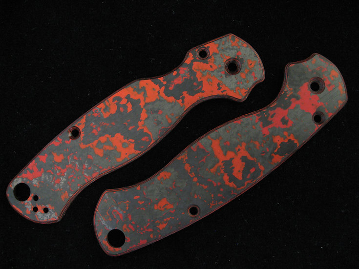 Spyderco PM 2 Lava Flow Carbon Fiber Custom Scales