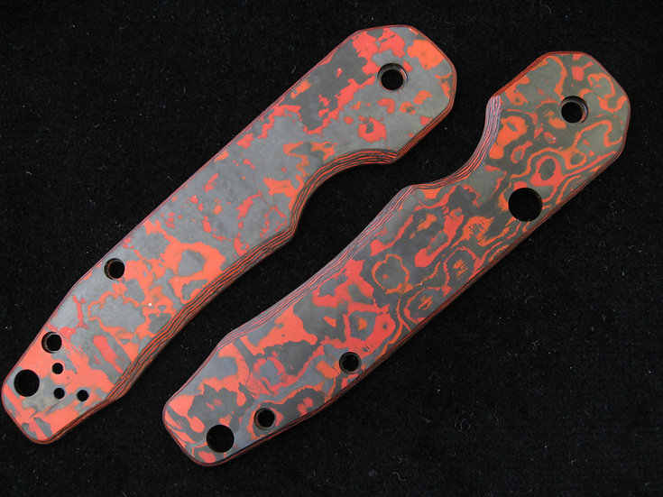 Spyderco Smock Lava Flow Custom Scales