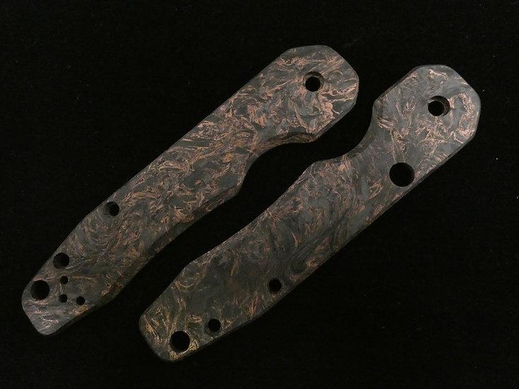 Spyderco Smock Dark Matter Copper Custom Scales