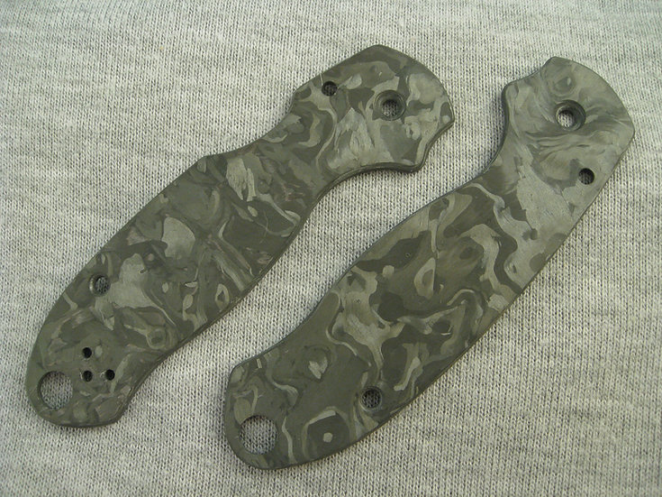 Spyderco Para 3 Marbled Carbon Fiber Custom Scales