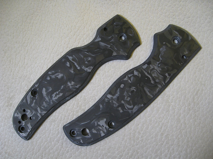 Spyderco Shaman Marbled Carbon Fiber Custom Scales
