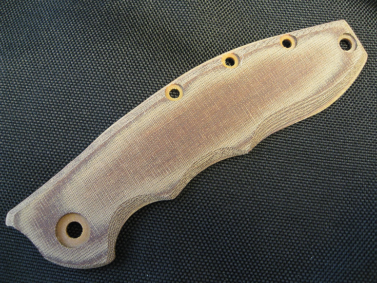 ZT 0562 Brown Linen Micarta Custom Knife Scale