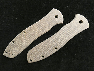 Gayle Bradley 2 Brown Burlap Micarta Custom Overlays