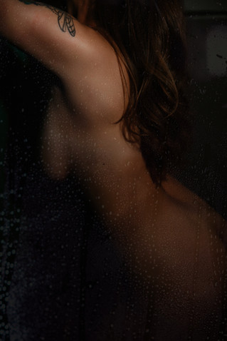 naked shower boudoir photography
