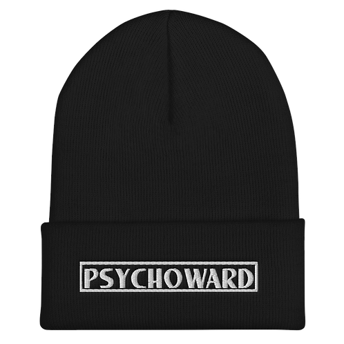 White Psychoward Logo Beanie