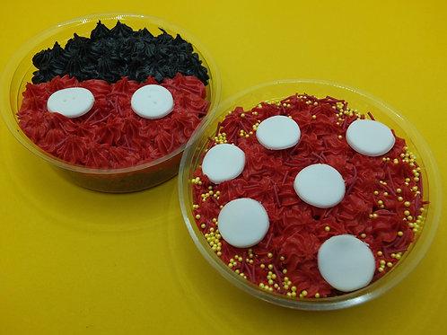 Mickey / Minnie Red Velvet Cake Pot  (GFO)