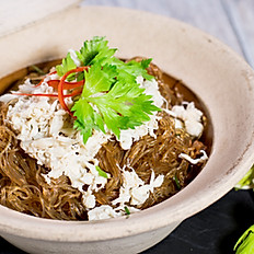 Clay Pot Crab with Glass Noodles