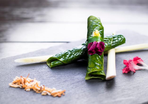 Thai Leaf Wrapped Salad Bite