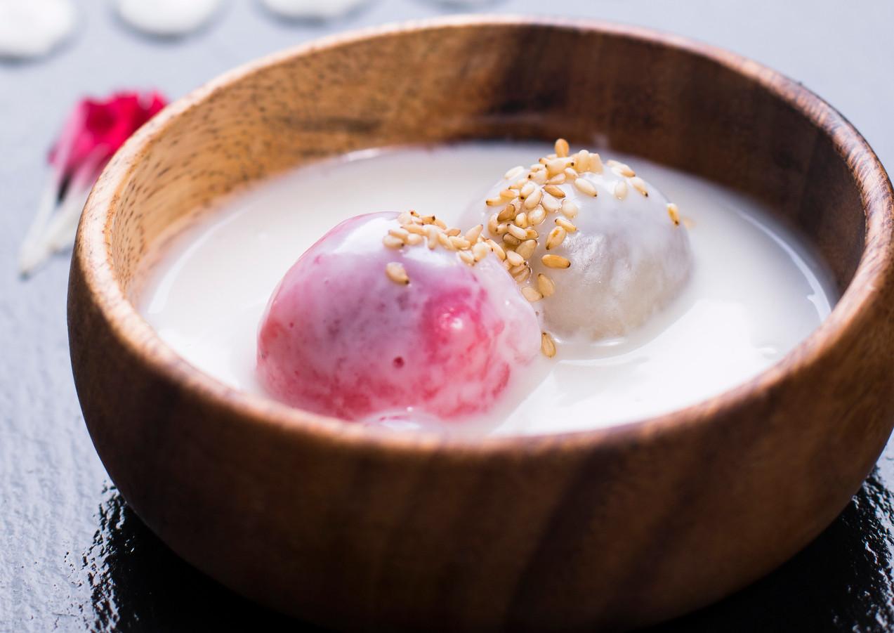 Black Rice Dumpling in Coconut Milk