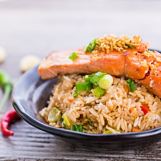 Salmon Garlic Fried Rice