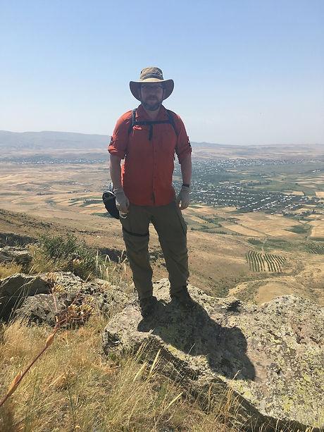 Ellery Frahm on Hatis volcano