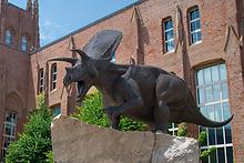 Peabody Torosaurus statue