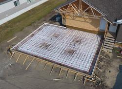 Prepped structural garage floor