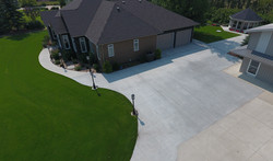 Driveway and sidewalks