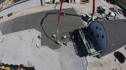 Pouring fast setting pavement