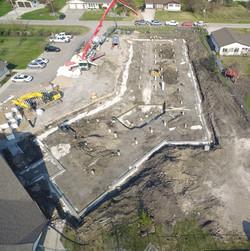 15000 sq ft foundation