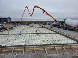 Placing concrete