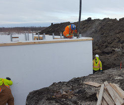 Pouring ICF basement