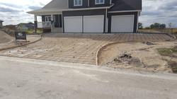 Prepped driveway