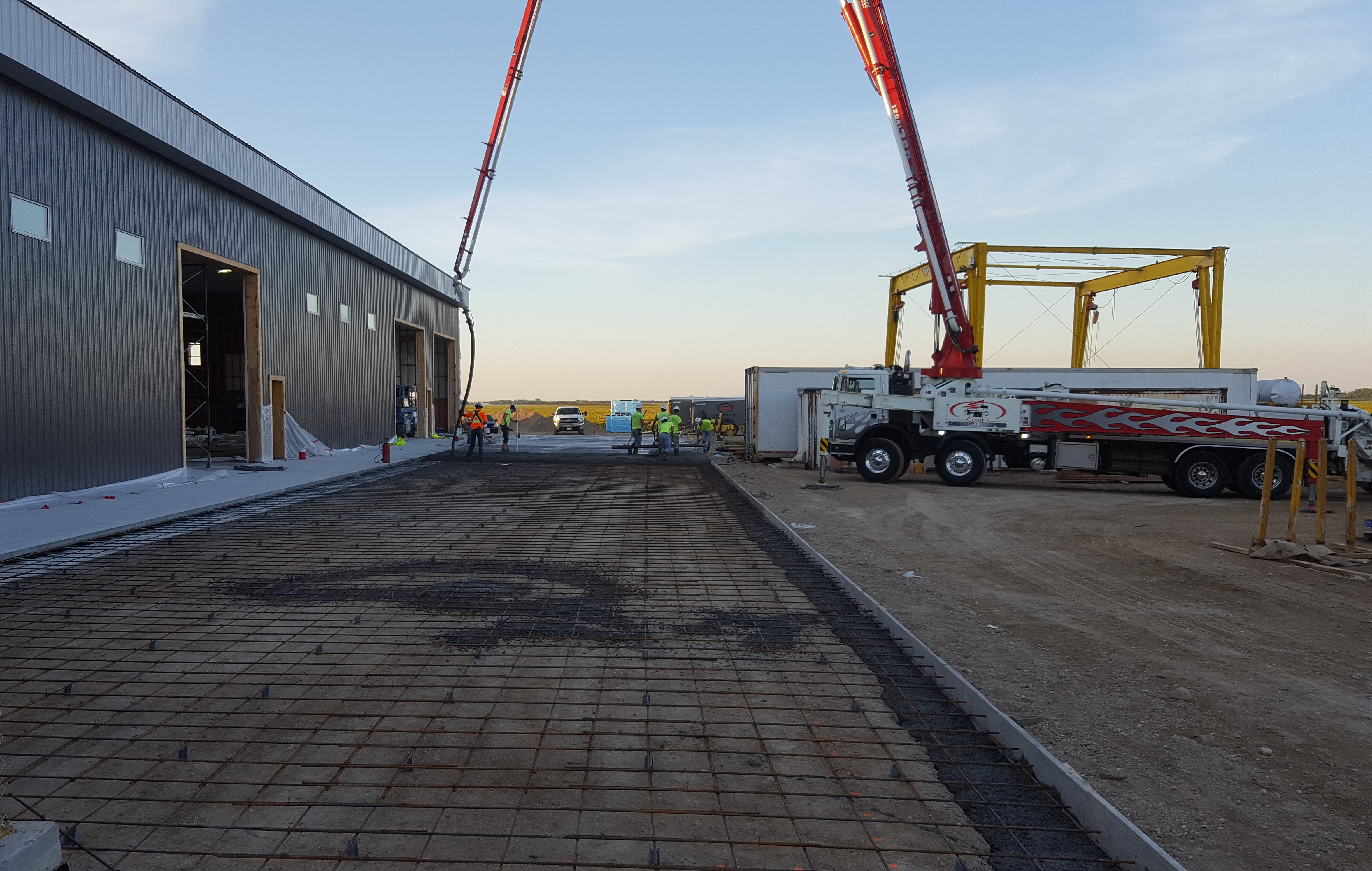 Pouring exterior slab