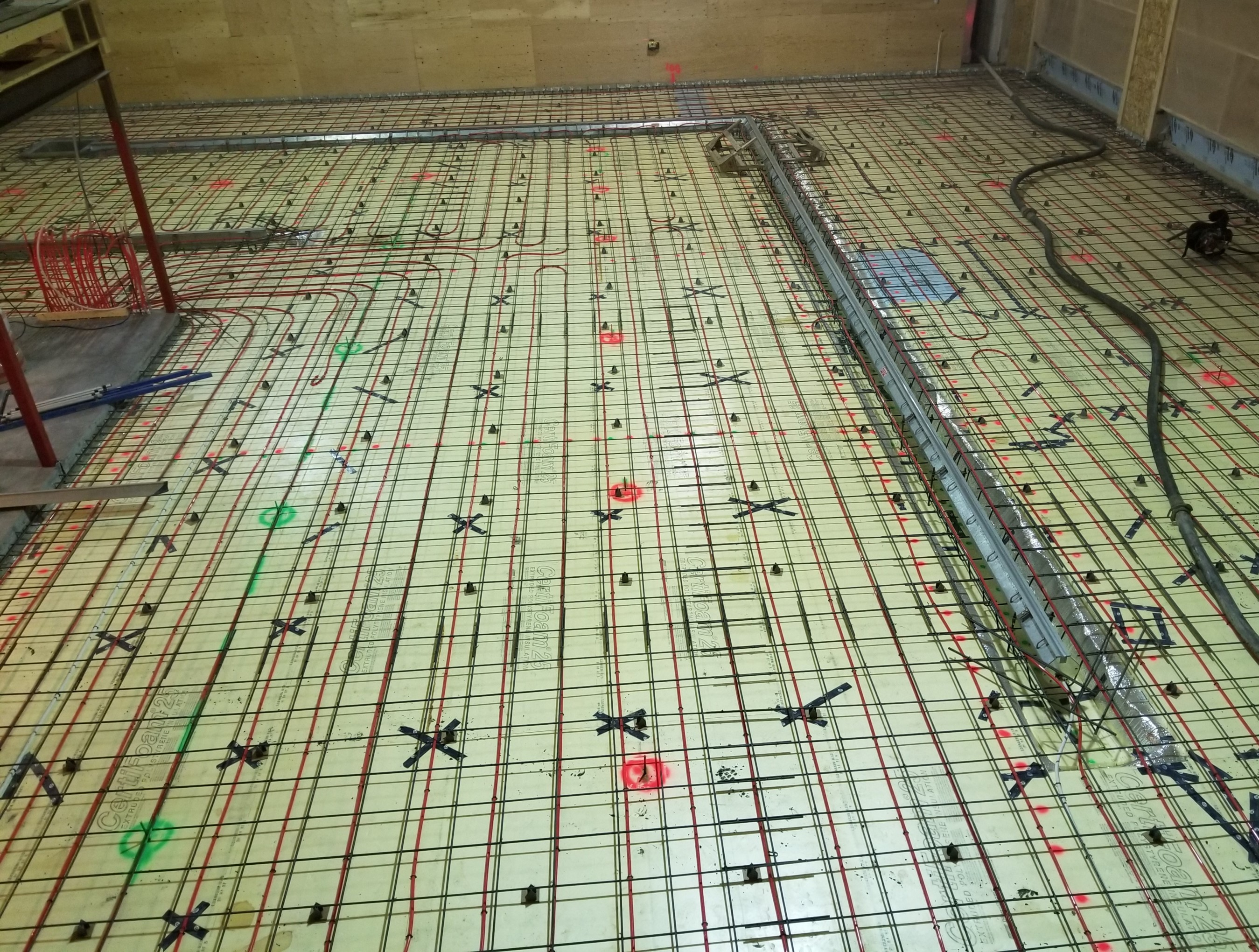 Prepped Firehall floor