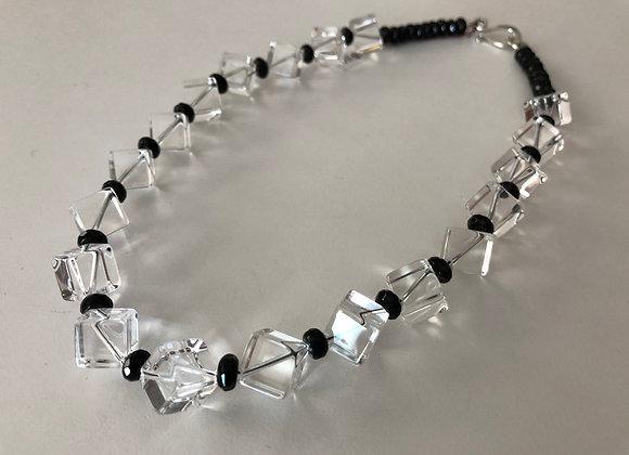 Crystal quartz cubes