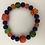 Thumbnail: Orange coral, purple glass, and Czech glass
