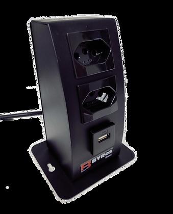 Mini Start Torre (2 tomadas e 1 carregador USB Simples)