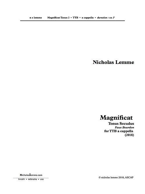 Magnificat Fauxbourdon |  2018 | à 3 TTB |  3'