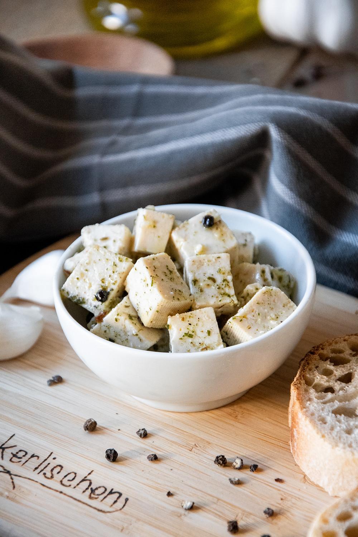 Veganer Fett-Käse aus Tofu