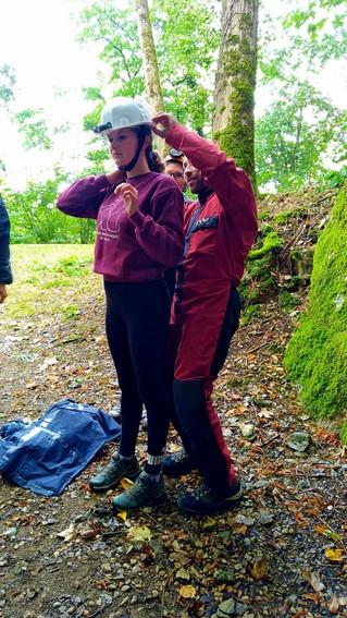 Visite de la grotte de St Vit, sortie prévu pour fêter l'anniversaire des 11 ans de Louis et des 15