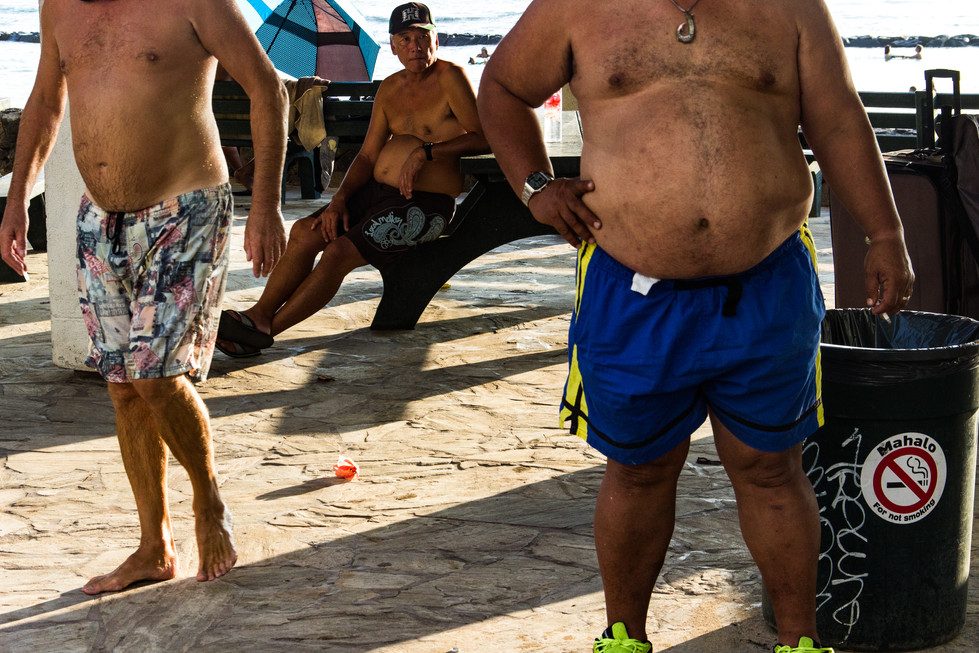 People gather at Waikiki beach to take part at the 23rd Annual Honolulu Festival on March 17, 2017.