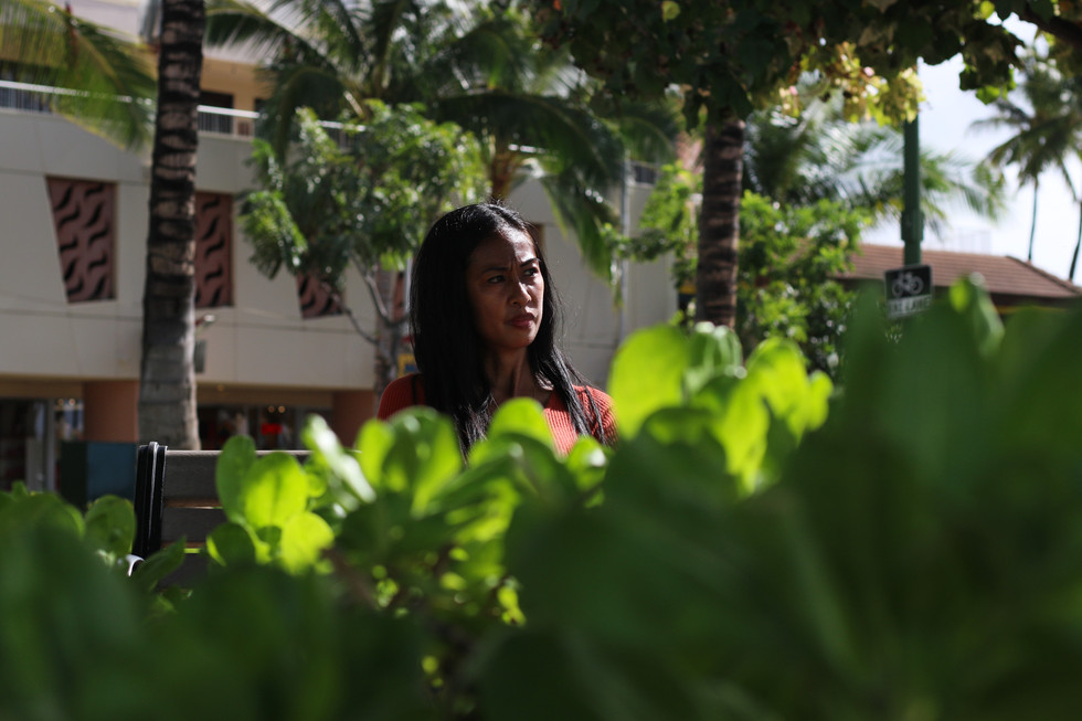 """""""I'm a little worried. I'm not sure if I can find a job later,"""" said Abigail Dela Cruz, 36, an unemployed restaurant worker in Honolulu. It took her about six onths to get her unemplyment benefits. They came through September covering her rent and repaying her friends."""