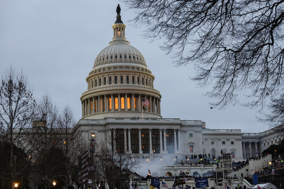Chaos unfolded at the Capitol after President Trump accused the presidential election with false allegations culminating in a call to march to the building to protest against the electoral vote count.