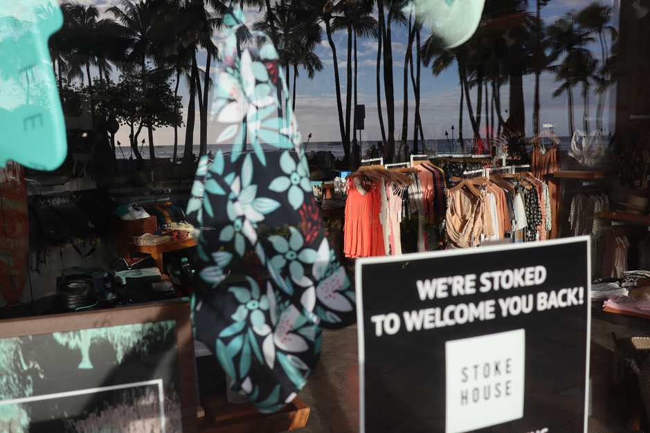 Some store front at Waikiki on November 20, 2020. Hawaii after going through back to back lockdown has started to see some footsteps of the tourists.