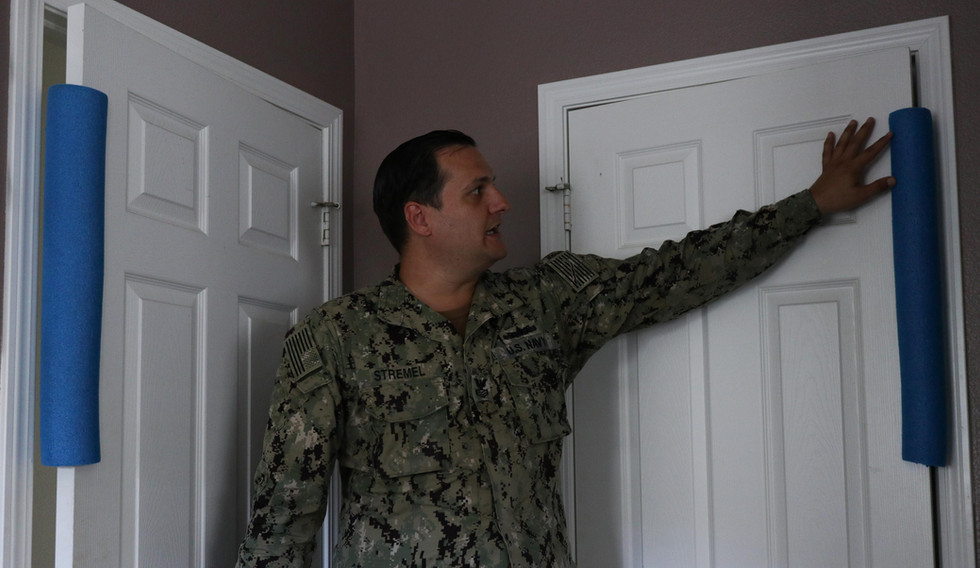 Stremel was forced to pad his bedroom doors with pool noodles to prevent his wife ex-wife from angrily slamming the doors.