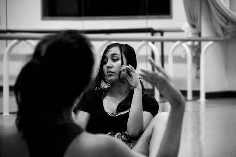 University of Hawaii at Manoa dance student Charessa Fryc rehearses her piece for upcoming group dance in the Footholds Dance Concert at the UH Kennedy Theatre on October 25, 2018.