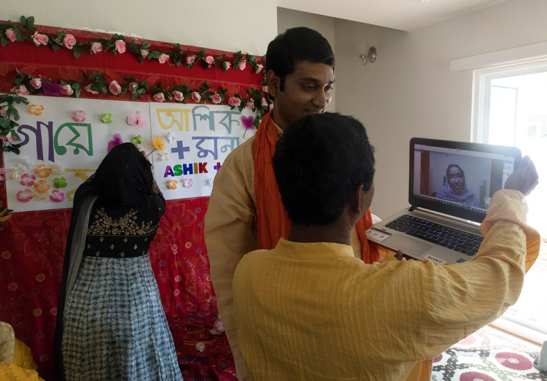 Groom's mother was unable to attend his son's wedding due to visa complications. She later joined through a video call to be a witness of the wedding ceremony.