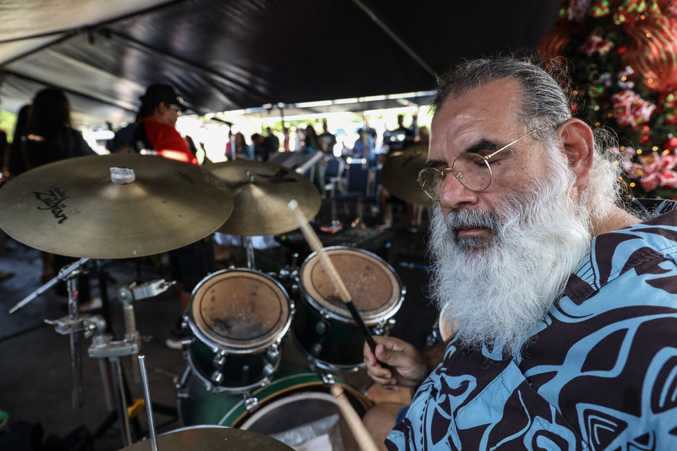 Gonzales is also a self-taught drummer and has been playing since he was a teen. His regularity in playing drums in different local churches in O'ahu helped him to recover from his addictions.